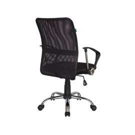 Компьютерное кресло Riva Chair 8075 Чёрная ткань/Чёрная сетка (DW-01), Цвет товара: Черный, изображение 2