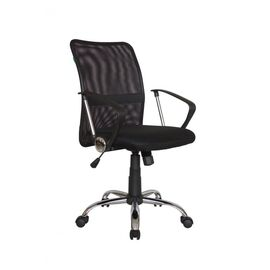Компьютерное кресло Riva Chair 8075 Чёрная ткань/Чёрная сетка (DW-01), Цвет товара: Черный, изображение 4