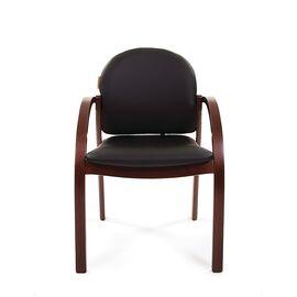 Офисное кресло для посетителей Chairman CH 659 Теrrа черный матовый/тем.орех, изображение 4