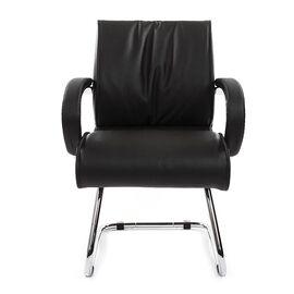 Офисное кресло для посетителей Chairman 445 Черная кожа, Цвет товара: Черный, изображение 3