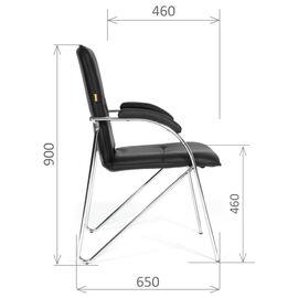 Офисное кресло для посетителей Chairman 850 Черный, Цвет товара: Черный, изображение 6