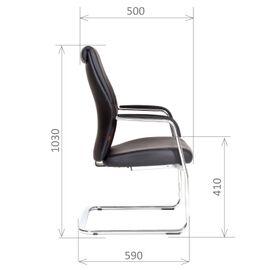 Офисное кресло для посетителей Chairman Vista V эко Черный, Цвет товара: Черный, изображение 3