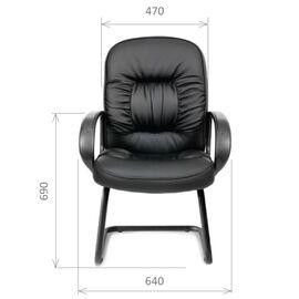 Офисное кресло для посетителей Chairman CH 416 V, Цвет товара: Черный, изображение 4