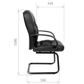 Офисное кресло для посетителей Chairman CH 416 V, Цвет товара: Черный, изображение 5
