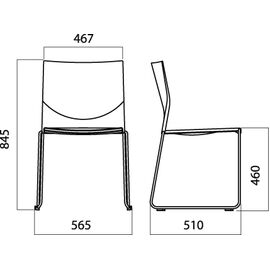 Офисное кресло для посетителей Web Vi (C2W), Цвет товара: Черный, изображение 8