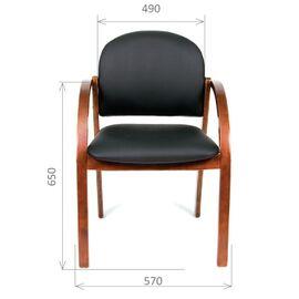 Офисное кресло для посетителей Chairman CH 659 Теrrа черный матовый/тем.орех, изображение 2