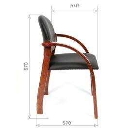 Офисное кресло для посетителей Chairman CH 659 Теrrа черный матовый/тем.орех, изображение 3