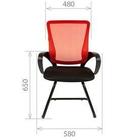 Офисное кресло для посетителей Chairman CH 969 V Ткань/сетка TW (серый) 580x560x990, Цвет товара: Серый, изображение 7