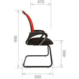 Офисное кресло для посетителей Chairman CH 969 V Ткань/сетка TW (серый) 580x560x990, Цвет товара: Серый, изображение 8