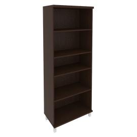Шкаф для документов высокий широкий (2 низкие двери ЛДСП, 2 низкие двери стекло)FIRST KST-1.4 800*430*2060 Венге, Цвет товара: Венге Цаво, изображение 2