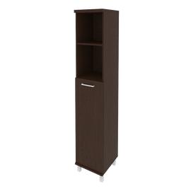 Шкаф для документов высокий узкий левый/правый (1 средняя дверь ЛДСП) FIRST KSU-1.6 400*430*2060 Венге, Цвет товара: Венге Цаво, изображение 2