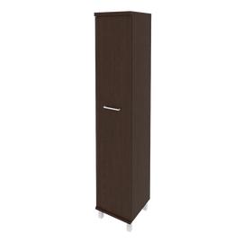 Шкаф для документов высокий узкий левый/правый (1 высокая дверь ЛДСП)FIRST KSU-1.9 400*430*2060 Венге, Цвет товара: Венге Цаво, изображение 2
