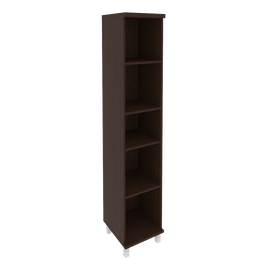 Шкаф для документов высокий узкий левый/правый (1 средняя дверь ЛДСП) FIRST KSU-1.6 400*430*2060 Венге, Цвет товара: Венге Цаво, изображение 3