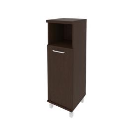 Шкаф для документов средний узкий левый/правый (1 низкая дверь ЛДСП)FIRST KSU-2.1 400*430*1260 Венге, Цвет товара: Венге Цаво, изображение 2