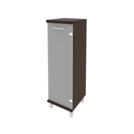 Шкаф для документов средний узкий левый/правый (1 средняя дверь стекло) FIRST KSU-2.4 400*430*1260 Венге, Цвет товара: Венге Цаво, изображение 2