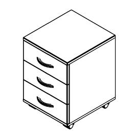 Тумба мобильная под стол SC-3M Серый Skyland SIMPLE 412х450х556, Цвет товара: Серый, изображение 2