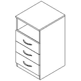 Тумба приставная SC-3D.1 Серый Skyland SIMPLE 412х450х760, Цвет товара: Серый, изображение 2