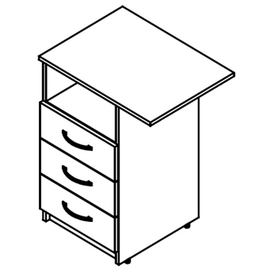 Тумба приставная SC-3D.2 (L/R) Дуб Сонома Skyland SIMPLE 600х450х760, Цвет товара: Дуб Сонома, изображение 2