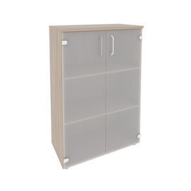 Шкаф для документов средний широкий (2 средние двери стекло) Onix O.ST-2.4 Дуб Аризона 800x420x1207, Цвет товара: Дуб Аризона, изображение 2