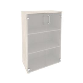 Шкаф для документов средний широкий (2 средние двери стекло) Onix O.ST-2.4 Дуб Аризона 800x420x1207, Цвет товара: Дуб Аризона, изображение 3