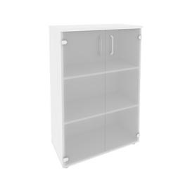 Шкаф для документов средний широкий (2 средние двери стекло) Onix O.ST-2.4 Дуб Аризона 800x420x1207, Цвет товара: Дуб Аризона, изображение 4