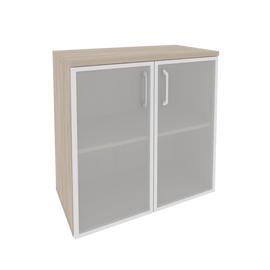 Шкаф для документов низкий широкий Onix O.ST-3.2R Дуб Аризона 800x420x823, Цвет товара: Дуб Аризона, изображение 2