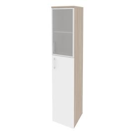 Шкаф для документов высокий узкий правый Onix O.SU-1.7R(R) Дуб Аризона/mate 400x420x1977, Цвет товара: Дуб Аризона, изображение 6