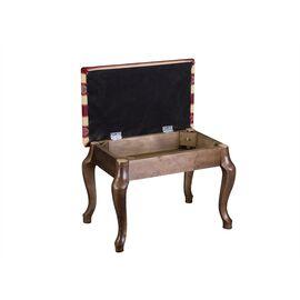 Банкетка Ретро Mebelik Темно-коричневый 520х340х390, Цвет товара: Темно-коричневый, изображение 4