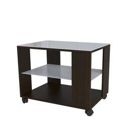Стол журнальный BeautyStyle 5 Mebelik Венге/Белое стекло 650х450х560, Цвет товара: Венге/Белое стекло, изображение 2