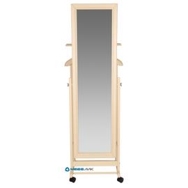 Вешалка костюмная с зеркалом В 24Н Mebelik Слоновая кость 480х350х1370, Цвет товара: Слоновая кость, изображение 2
