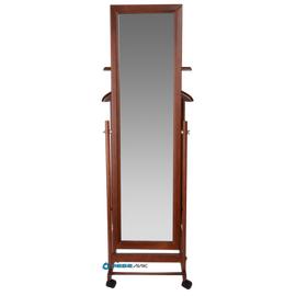 Вешалка костюмная с зеркалом В 24Н Mebelik Средне-коричневый 480х350х1370, Цвет товара: Средне-коричневый, изображение 2