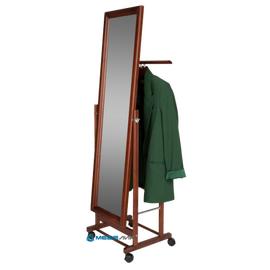 Вешалка костюмная с зеркалом В 24Н Mebelik Средне-коричневый 480х350х1370, Цвет товара: Средне-коричневый, изображение 4