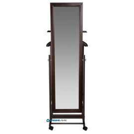 Вешалка костюмная с зеркалом В 24Н Mebelik Венге 480х350х1370, Цвет товара: Венге, изображение 2