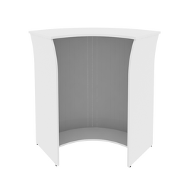 Стойка угловая (радиусный элемент - ролета) RIVA А.РС-5.5 Белый 950х950х1150, Цвет товара: Белый, изображение 2