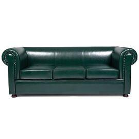 Диван трехместный Chairman Честер лайт (ШхГхВ 2200х900х800 ), Цвет товара: темно-зеленый, изображение 3