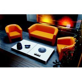 Диван трехместный Chairman Крон  ( ШхГхВ 1635х700х820 ), Цвет товара: Оранжевый, изображение 4