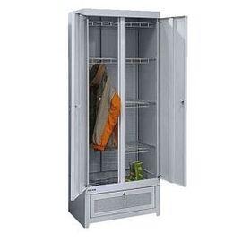 Металлический сушильный шкаф для одежды и обуви ШСО- 22М, Цвет товара: Серый, изображение 3