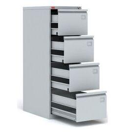 Картотечный металлический шкаф для хранения документов КР -4, Цвет товара: Серый, изображение 2
