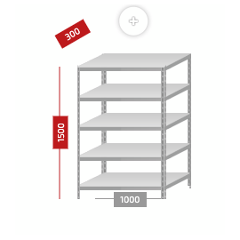 Стеллажи с нагрузкой до 500 кг, Цвет товара: Серый, изображение 2