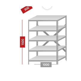 Стеллажи с нагрузкой до 900 кг, Цвет товара: Серый, изображение 2