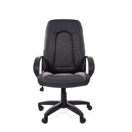 Компьютерное кресло для руководителя Chairman 429 Экопремиум, черный+ткань 20-23 серая, Цвет товара: Серый, изображение 2