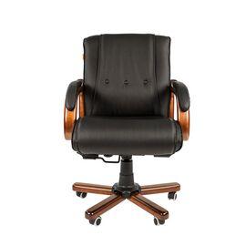 Компьютерное кресло для руководителя Chairman 653 M низкая спинка для конференц-залов и переговоров, Цвет товара: Черный, изображение 2