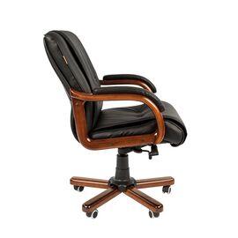 Компьютерное кресло для руководителя Chairman 653 M низкая спинка для конференц-залов и переговоров, Цвет товара: Черный, изображение 3