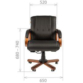Компьютерное кресло для руководителя Chairman 653 M низкая спинка для конференц-залов и переговоров, Цвет товара: Черный, изображение 4
