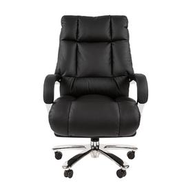 Компьютерное кресло для руководителя Chairman 405 натуральная кожа, Цвет товара: Черный, изображение 2