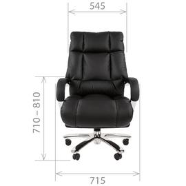 Компьютерное кресло для руководителя Chairman 405 натуральная кожа, Цвет товара: Черный, изображение 4