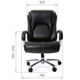 Компьютерное кресло для руководителя Chairman 402 Черная кожа, Цвет товара: Черный, изображение 2