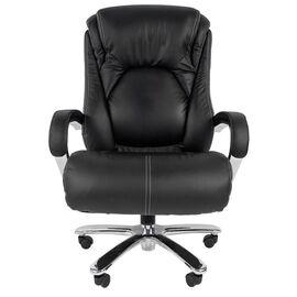 Компьютерное кресло для руководителя Chairman 402 Черная кожа, Цвет товара: Черный, изображение 4