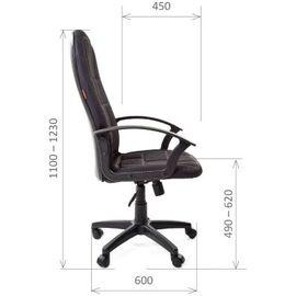 Компьютерное кресло для руководителя Chairman 737 Черный, Цвет товара: Черный, изображение 2