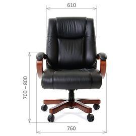Компьютерное кресло для руководителя Chairman 503 натуральная кожа, Цвет товара: Черный, изображение 2